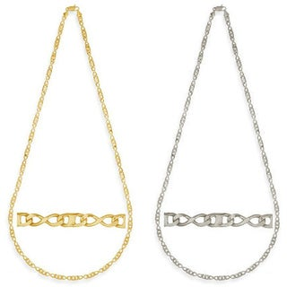 Simon Frank Gold Overlay Figure 8 Gucci-style 24-inch Necklace (Option: Gold)