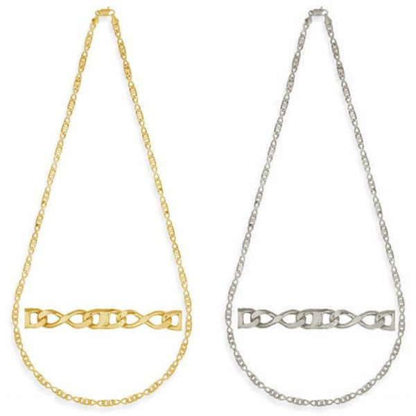 Simon Frank Gold Overlay Figure 8 Gucci-style 24-inch Necklace