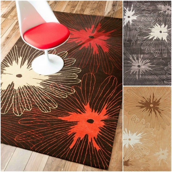 nuLOOM Hand-tufted Pino Collection Floral Rug (5' x 8')