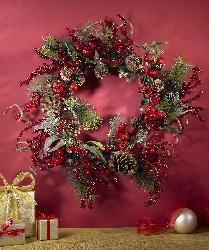 Assorted Berry 24-inch Wreath - Thumbnail 1