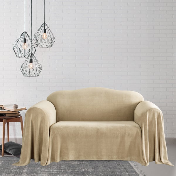 Plush Loveseat Furniture Throw Free Shipping Today 4312017