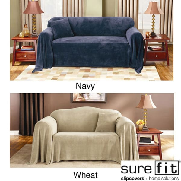 Sure Fit Plush Sofa Throw Cover Free Shipping On Orders Over 45 12287938