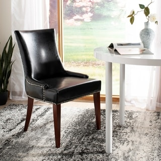 Safavieh En Vogue Dining Becca Leather Dining Chair Black
