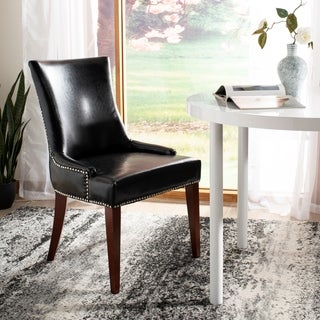 Safavieh En Vogue Dining Becca Leather Side Chair Black