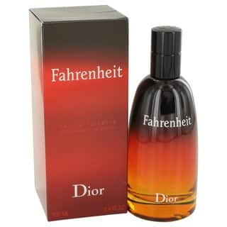 Christian Dior Fahrenheit Men's 3.4-ounce Eau de Toilette Spray|https://ak1.ostkcdn.com/images/products/4313300/P12290507.jpg?impolicy=medium