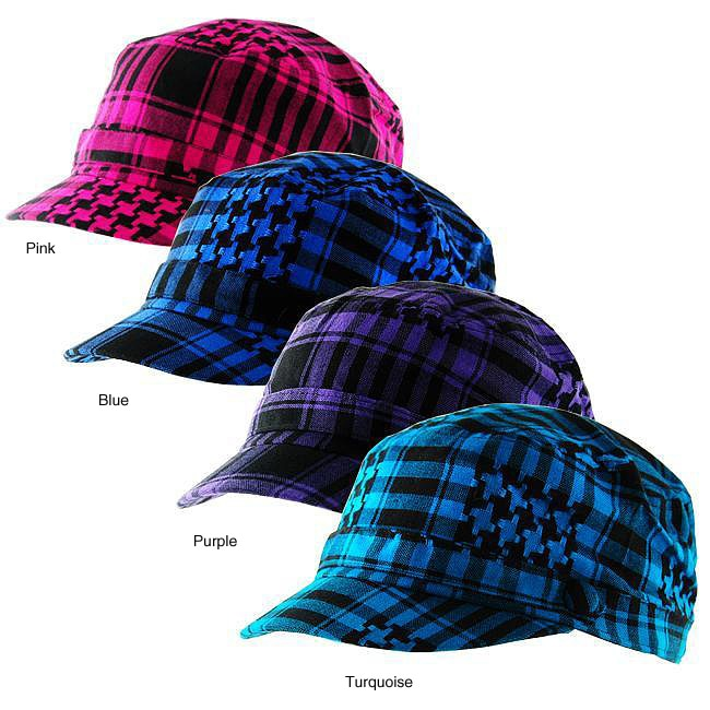 H2W Brand Plaid Men's Cadet-style Hat