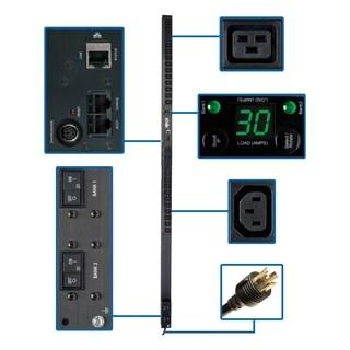 Tripp Lite PDU Monitored 208V/240V 30A 20 C13; 4 C19 L6-30P Vertical