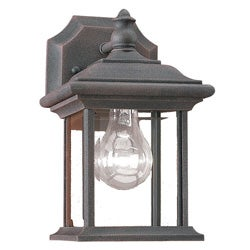Clear Beveled Glass Tawny Bronze Outdoor Wall Lantern