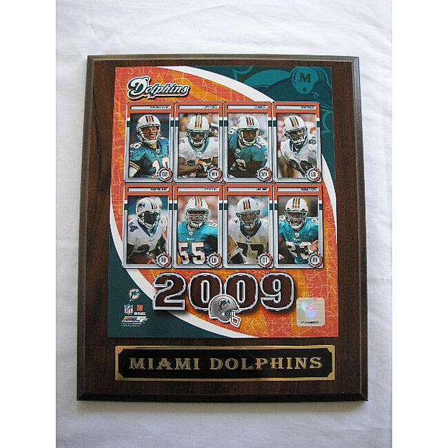 Miami Dolphins Team Picture Plaque