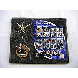 Baltimore Ravens Team Picture Plaque Clock