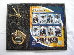 San Diego Chargers Team Picture Plaque Clock - Thumbnail 1