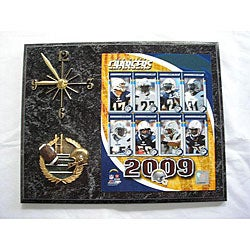 San Diego Chargers Team Picture Plaque Clock