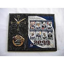Dallas Cowboys Team Picture Plaque Clock