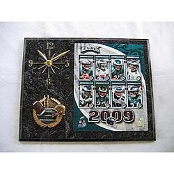 Philadelphia Eagles Team Picture Plaque Clock - Thumbnail 0