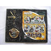 Green Bay Packers Team Picture Plaque Clock