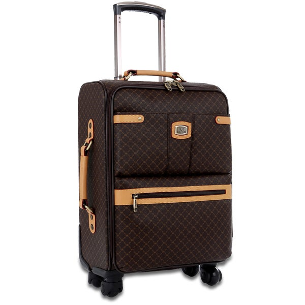 Rioni Signature Designer 21 Inch Carry On Fashion Spinner Upright