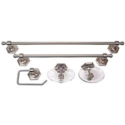 Moen Atwood Pewter 5 Piece Bath Accessory Kit