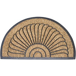 Shell Half-round Door Mat (18 in. x 30 in.)