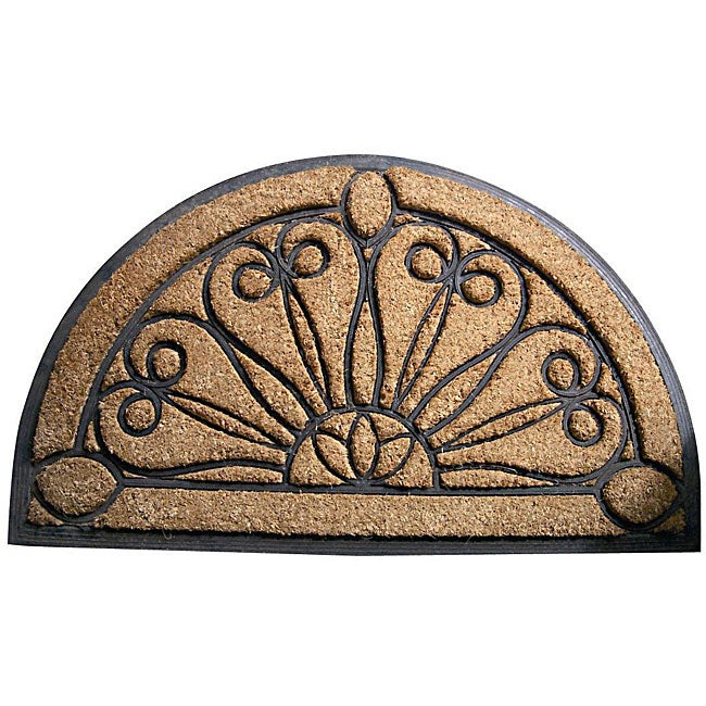 tulips half-round door mat  1 u0026 39 6 x 2 u0026 39 6  - free shipping on orders over  45 - overstock com