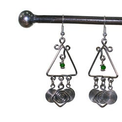 Silverplated Copper 'Together' Earrings (Kenya) - Thumbnail 1