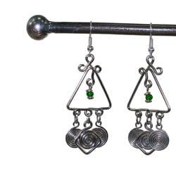 Silverplated Copper 'Together' Earrings (Kenya)