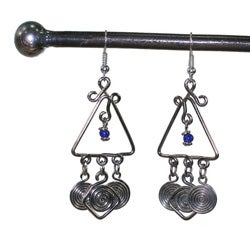 Silverplated Copper 'Together' Earrings (Kenya) - Thumbnail 2