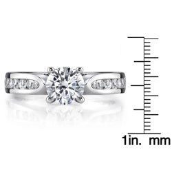 18k White Gold 1 1/5ct TDW EGL Certified Diamond Engagement Ring (G-H, SI1)