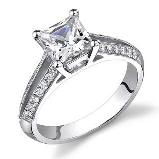 18k White Gold 1 1/4ct TDW Certified Diamond Engagement Ring