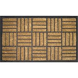 Criss-cross Natural Coir Door Mat (1'6 x 2'6)