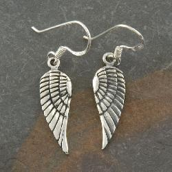 Sterling Silver 'Angel Wings' Earrings (Thailand) - Thumbnail 1