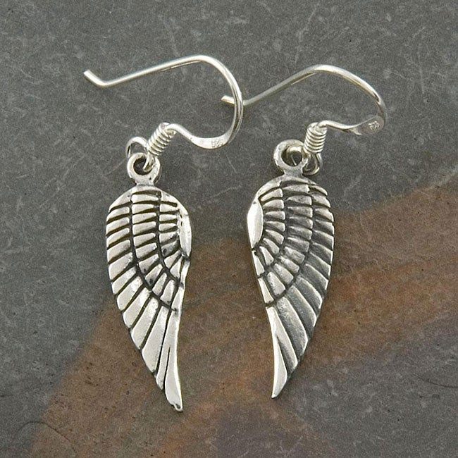 Sterling Silver 'Angel Wings' Earrings (Thailand) - Thumbnail 0
