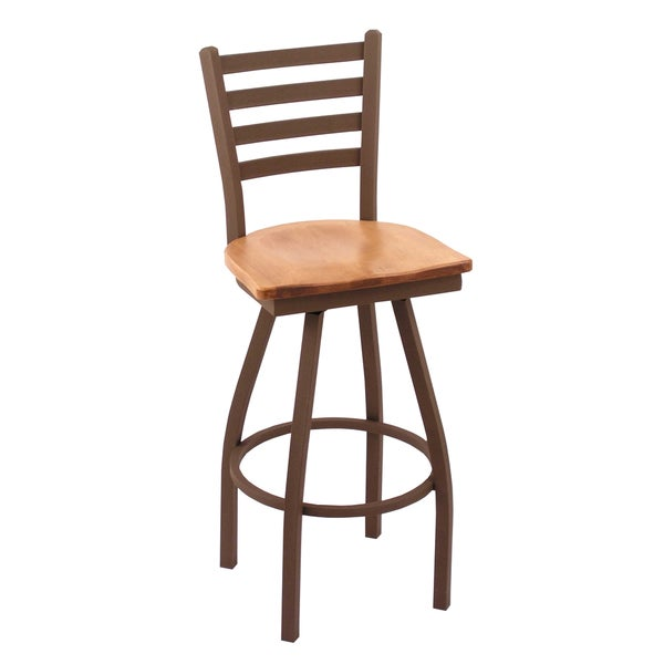 Shop Bronze 25 Inch Counter Stool Medium Maple Seat