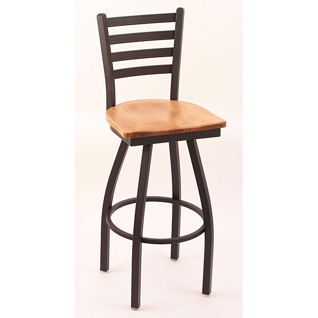 Cambridge Bronze 30 Inch Steel Wood Counter Swivel Stool