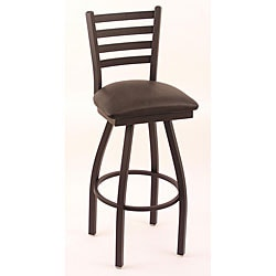Cambridge 25-inch Black Counter Swivel Stool with Black Vinyl Cushion Seat