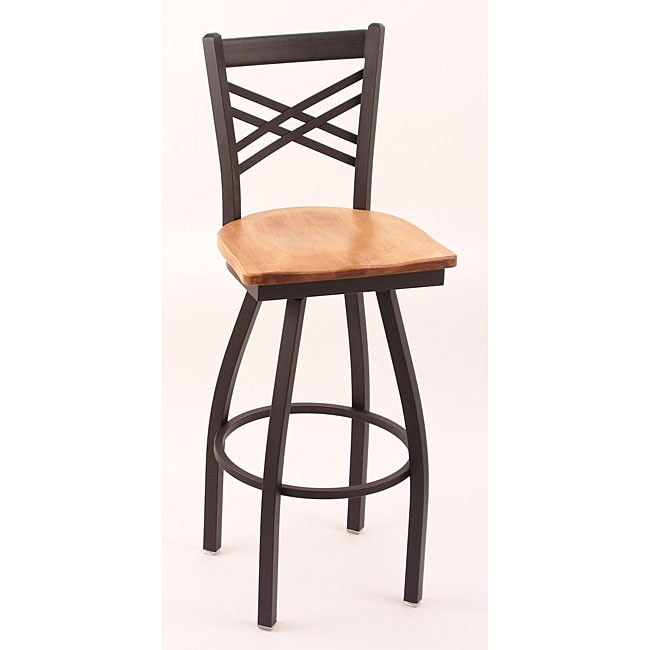 Cambridge Black 30 Inch Counter Swivel Stool With Medium