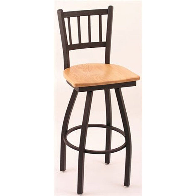 Oak Bar Stools Counter: Shop Cambridge Black 25-inch Counter Swivel Stool With