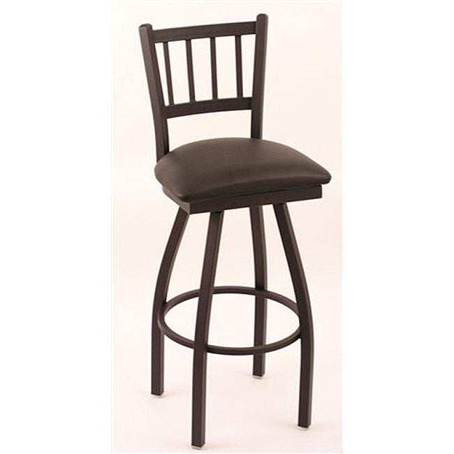 Cambridge Black 30-inch Counter Swivel Stool with Black Vinyl Cushion Seat