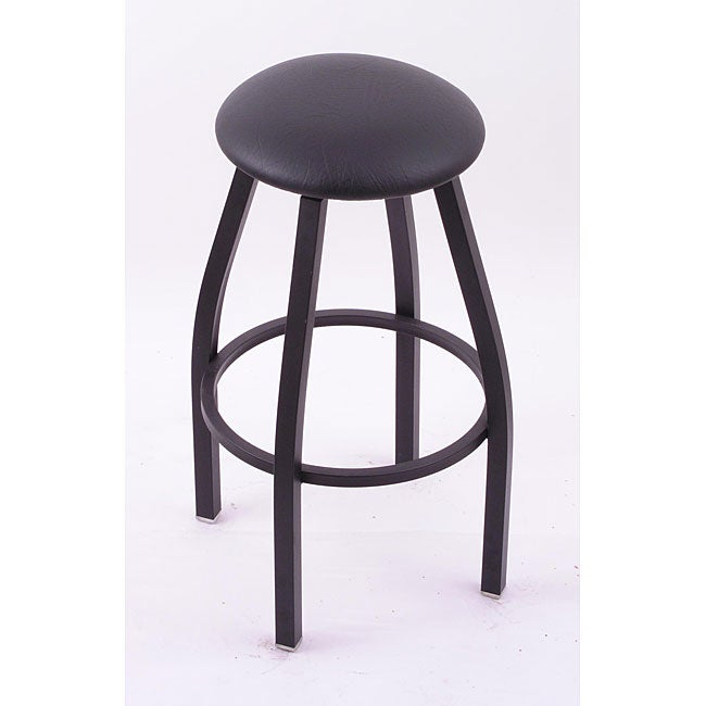 Cambridge Black 30-inch Backless Counter Swivel Stool with Black Vinyl Cushion Seat