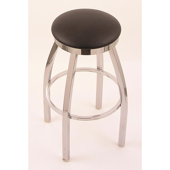 Shop Chrome Single Ring 25 Inch Backless Counter Swivel Stool With
