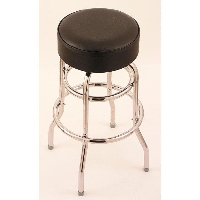 Shop Chrome Double Ring 25 Inch Backless Counter Swivel Stool With