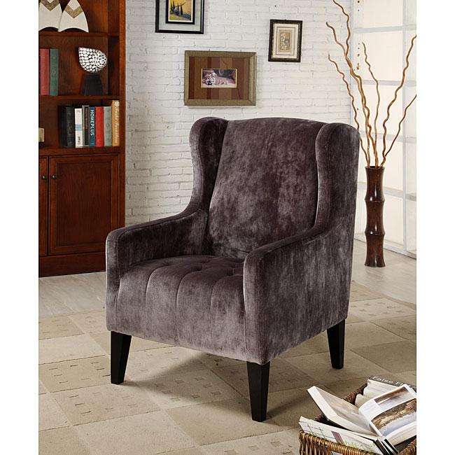 Velvet Club Chair Grey