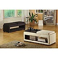 Double Reversible Tray Microfiber Bench
