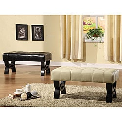 Tufted Bicast Leather 36-inch Bench
