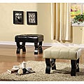 Tufted Bicast Leather 24-inch Bench