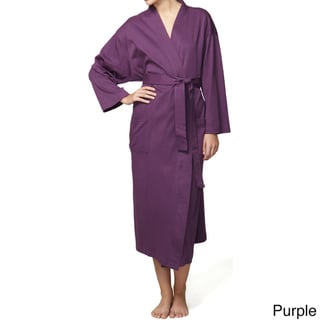 Unisex Organic Combed Cotton Jersey Bath Robe