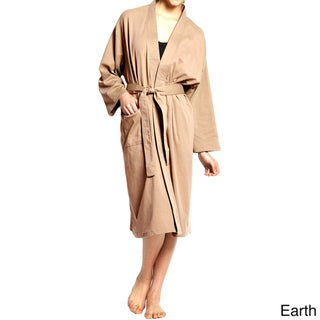 Unisex Organic Combed Cotton Interlock Jersey Bath Robe
