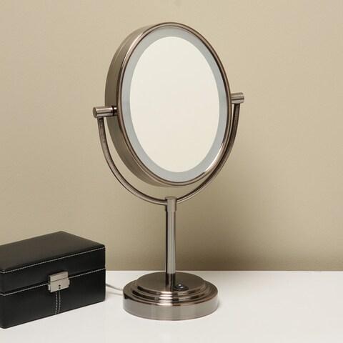 Conair Oiled Bronze Finish Double-sided 1X/7X Illuminated Mirror