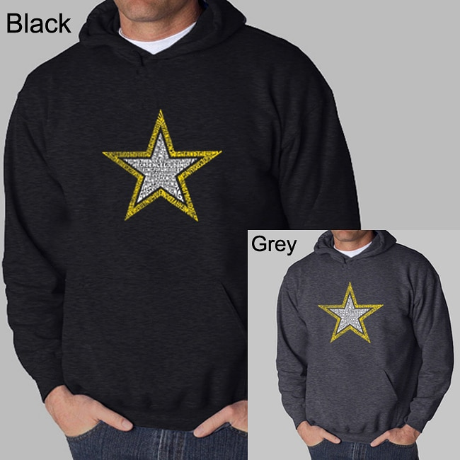 Los Angeles Pop Art Men's Army Hoodie