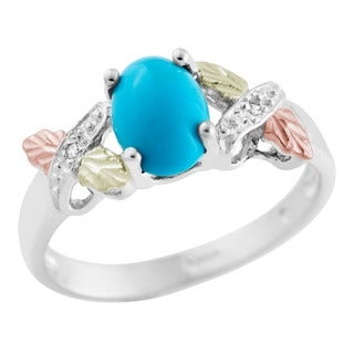 Link to Black Hills Gold and Silver Turquoise and Diamond Ring Similar Items in Rings