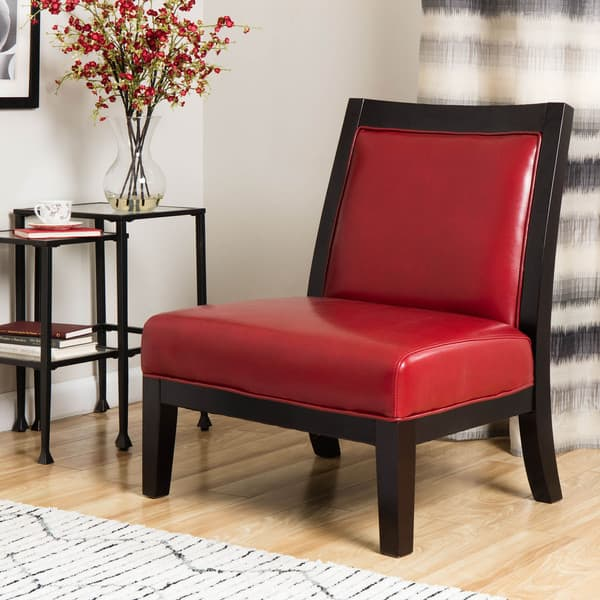 Miraculous Shop Connor Burnt Red Leather Chair Free Shipping Today Inzonedesignstudio Interior Chair Design Inzonedesignstudiocom